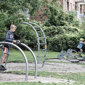 Fitness playground at the end of Påskestræde